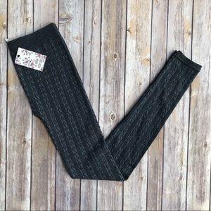 NWT Pink Republic Grey Knit Tights Size L